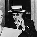 Al Capone, With A Cigar And A Big Print by Everett