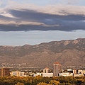 Albuquerque Skyline with the Sandia Mountains in the Background Print by Jeremy Woodhouse
