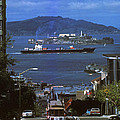 Alcatraz from San Fran hilltop Print by Paul W Faust -  Impressions of Light