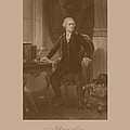 Alexander Hamilton Sitting At His Desk Print by War Is Hell Store
