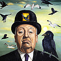 Alfred Hitchcock Poster by Leah Saulnier The Painting Maniac