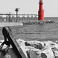 Algoma Lighthouse is Anchored Print by Mark J Seefeldt