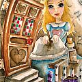 Alice in Wonderland 2 Poster by Lucia Stewart