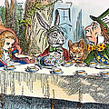 ALICES MAD-TEA PARTY, 1865 Print by Granger
