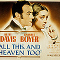 All This And Heaven Too, Charles Boyer Poster by Everett