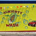 Almighty Car Wash Poster by David Kyte