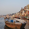 Alone on the Ganges Print by Jen Bodendorfer
