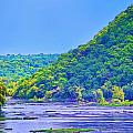 Along the Potomac in West Virginia Print by Bill Cannon