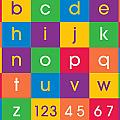 Alphabet Colors Poster by Michael Tompsett