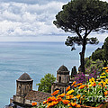 Amalfi Coast Spring Vista Poster by George Oze