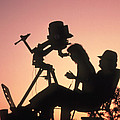 Amateur Astronomers With Meade 2080 20cm Telescope Poster by John Sanford