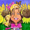 Amelia in Sunflowers Print by Robert  Myers