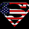 American Flag Superman Shield Poster by Bill Cannon