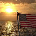 American Sunset Print by Lillie Wilde