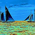 America's Cup Contenders Idler and Hildegarde 1901 Print by Padre Art