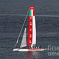 America's Cup in San Francisco - Italy Luna Rossa Paranha Sailboat - 7D19041 Poster by Wingsdomain Art and Photography