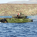 Amphibious Assault Vehicle Crewmen Poster by Stocktrek Images