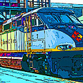 AMTRAK Locomotive Study 2 Print by Samuel Sheats