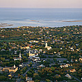 An Aerial View Of Chatham Print by Michael Melford