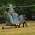 An Agusta A109 Helicopter Print by Luc De Jaeger