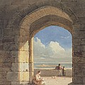 An Arch at Holy Island - Northumberland Poster by John Varley