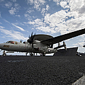 An E-2c Hawkeye Aircraft Prepares Poster by Stocktrek Images