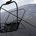 An Empty Chair Lift At A Ski Resort Poster by Tim Laman