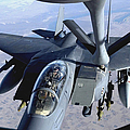 An F-15e Strike Eagle Refuels Over Iraq Print by Stocktrek Images