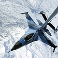 An F-16 Aggressor Sits In Contact Print by Stocktrek Images