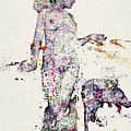 An Illustration Of A Woman And Animals Made Up Of A Collection Of Colorful Fragments Poster by Nikolai Larin