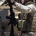 An Infantryman Talks To His Marines Print by Stocktrek Images