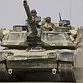 An M1a1 Abrams Tank Heading Print by Stocktrek Images