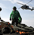 An Mh-60s Seahawk Passes Over Two Print by Stocktrek Images