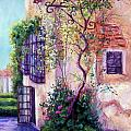 Andalucian Garden Print by Candy Mayer