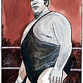 Andre The Giant Poster by Dave Olsen