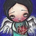 Angel with Heart Print by  Abril Andrade Griffith