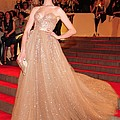 Anne Hathaway Wearing  A Valentino Gown Print by Everett