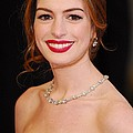 Anne Hathaway Wearing Tiffany Jewelry Poster by Everett
