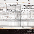 Ansel Adams Photography Exposure Record Log Poster by Wingsdomain Art and Photography