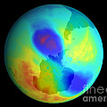 Antarctic Ozone Hole, September 2002 Poster by NASA / Science Source