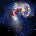 Antennae Galaxies, Composite Image Poster by Nasa