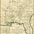 Antique Map of Louisiana and Florida Print by Guillaume Raynal