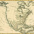 Antique Map of North America Print by Guillaume Raynal