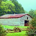 Appalachian Livestock Barn Print by Desiree Paquette