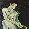 Aquarius from  Zodiac signs series Print by Dorina  Costras