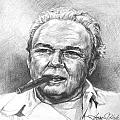 Archie Bunker Carroll O'Connor Print by Thomas Hoyle