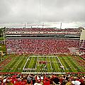 Arkansas Marching Band forms U-of-A at Razorback Stadium Print by Replay Photos