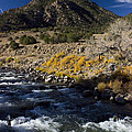 Arkansas River Autumn Print by Ellen Heaverlo