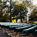 Army Cannons in a Row Poster by Army Athletics