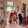 Arrival at the Inn Print by Charles Edouard Delort